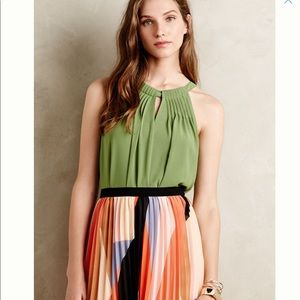 Anthropologie top shirt Pin Tucked Halter NWT